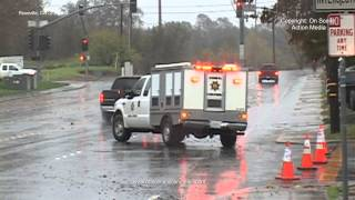 A Powerful Storm Brings Heavy Rain & Winds To Roseville, CA Causing Widespread Flooding 12-2-2012