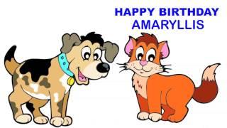 Amaryllis   Children & Infantiles - Happy Birthday
