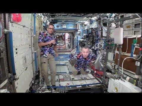 NASA's new ISS push up trick!