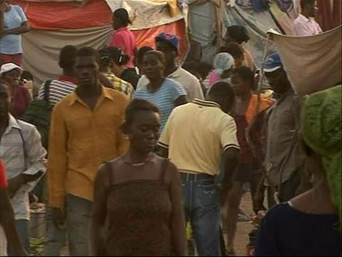 Tent cities are home for business in Haiti