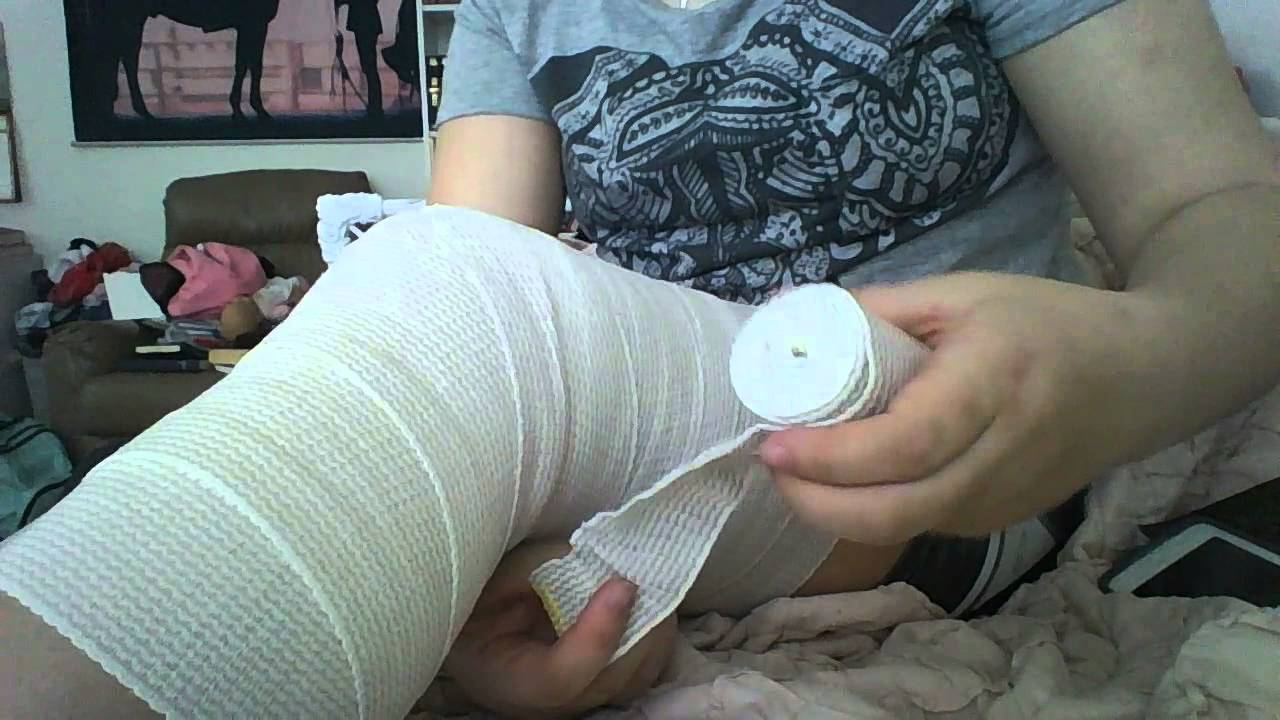 How To Wrap Your Knee With Ace Wraps Youtube
