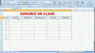 ¿Como aplicar formato a un horario elaborado en Excel?