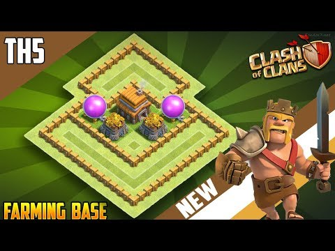 INSANE TH5 FARMING/HYBRID BASE W/REPLAYS!! [CoC 2018] New Best Town Hall 5 (TH5) Base Design
