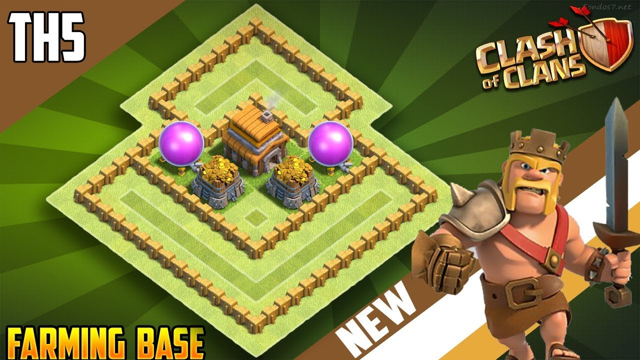 Base Coc Th 5 Farming 11
