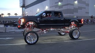 Lifted Trucks at the SEMA Cruise 2018.