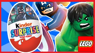 Лего супергерои, игрушки в киндер сюрпризах (Халк, Железный человек, Бэтмен)