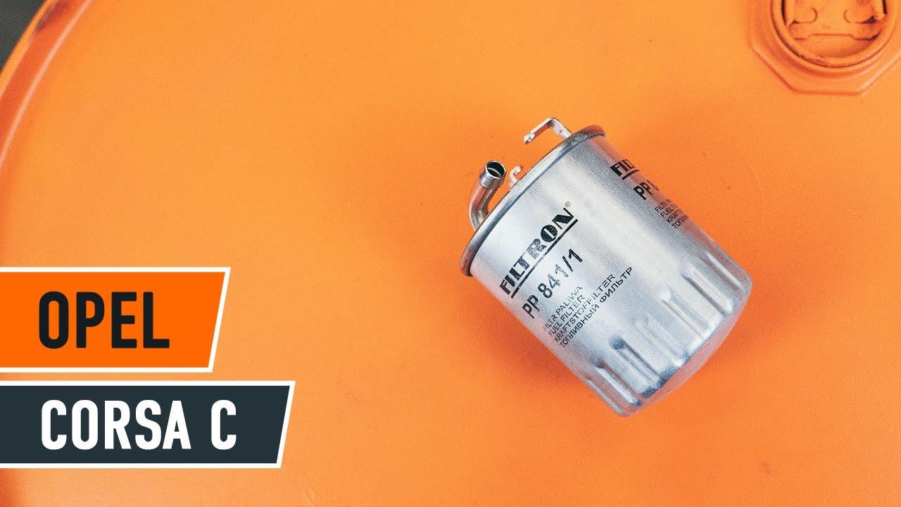 jak wymienic filtr paliwa  opel corsa  tutorial