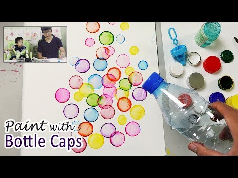 Bottle Cap Painting Technique for Beginners | Basic Easy Painting Idea