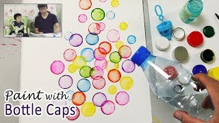 Bottle Cap Painting Technique for Beginners   Basic Easy Painting Idea