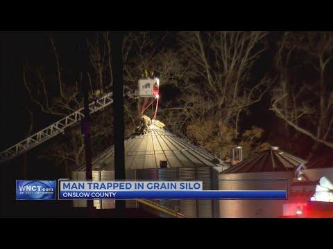 Man trapped inside grain silo in Maysville