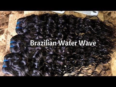 3 BUNDLES + CLOSURE UNDER $90!!!! WATER WAVE | SUNLIGHT HAIR ALIEXPRESS