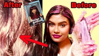 Download lagu How to colour your hair at home BBLUNT Salon Secret High Shine Creme Hair Colour Review Demo MP3