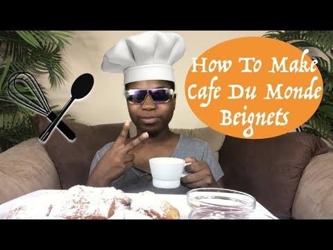 HOW TO MAKE BEIGNETS , CAFE DU MONDE BEIGNET MIX