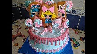 кремовый торт кукла ЛОЛ 3