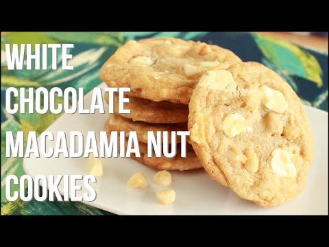 White Chocolate Macadamia Nut Cookies!! - Homemade Cookie Recipe