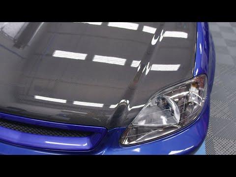 The EM1 Civic Gets A Spoon Carbon Fiber Hood