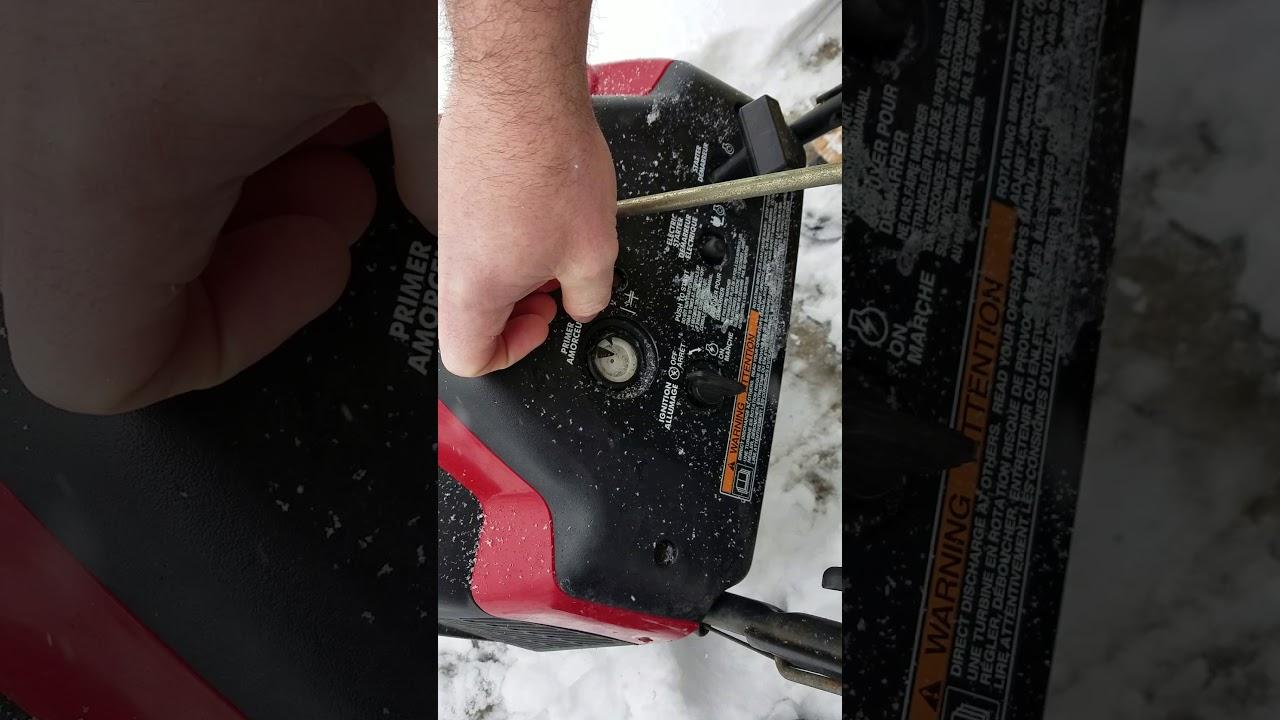 Hack, broken primer bulb on Toro snow blower