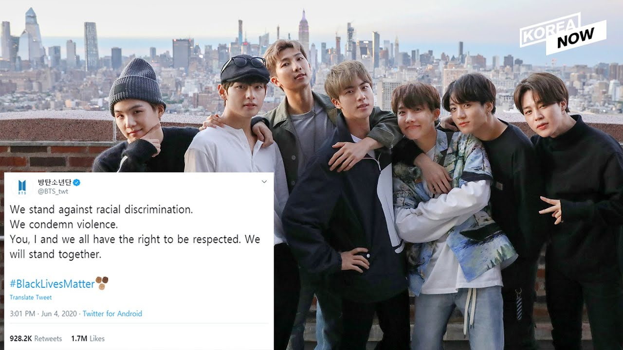 """BTS supports #BlackLivesMatter movement saying, """"We will stand together"""""""
