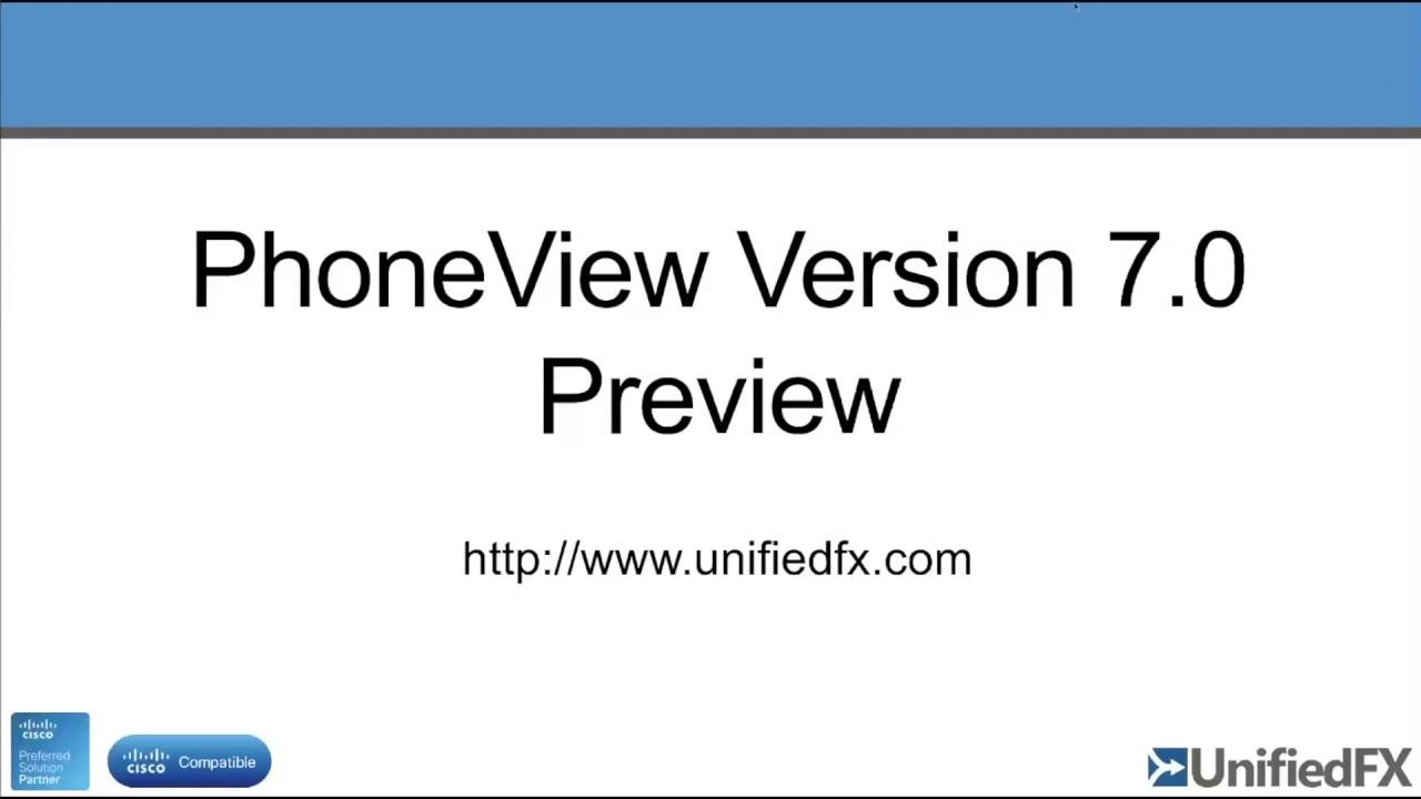 Remote Phone Control of Cisco Phones - PhoneView Ver 7