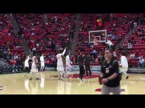 AJ Sports - SDSU Aztecs Vs Nicholls Colonels Halftime Highlights NCAA Men's Bball 12-10-2015 - Zennie62