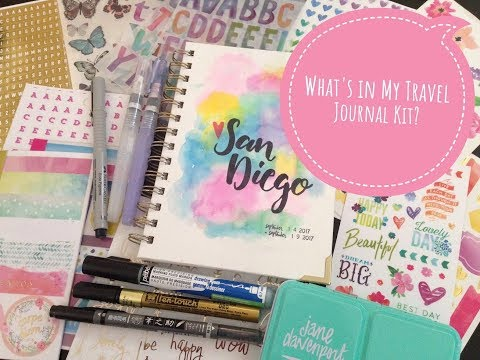 Travel Creative Journal Supplies - What I'm Taking With Me