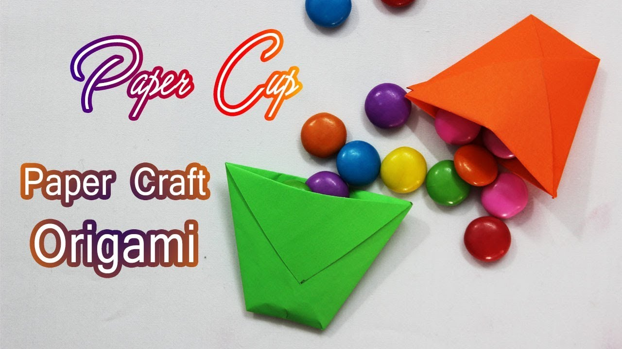How to make origami paper cup craft tutorials kids paper how to make origami paper cup craft tutorials kids paper crafts diy crafts origami for kids jeuxipadfo Image collections