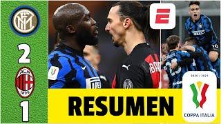 Inter 2-1 Milan ¡PARTIDAZO! Zlatan, GOL y ROJA. Lukaku, CALIENTE. Eriksen, el héroe. | Copa Italia