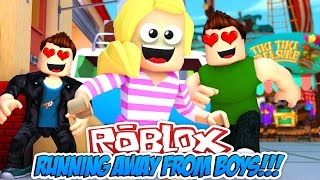 MINECRAFT ROBLOX: KISS CHASED BY BOYS???|| OBBY- Baby Leah Minecraft Roleplay!