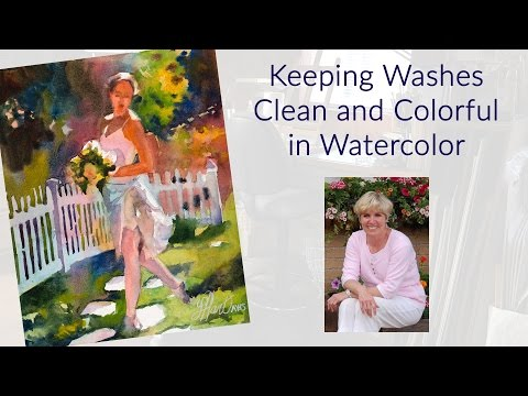 Keeping Washes Clean and Colorful in Watercolor