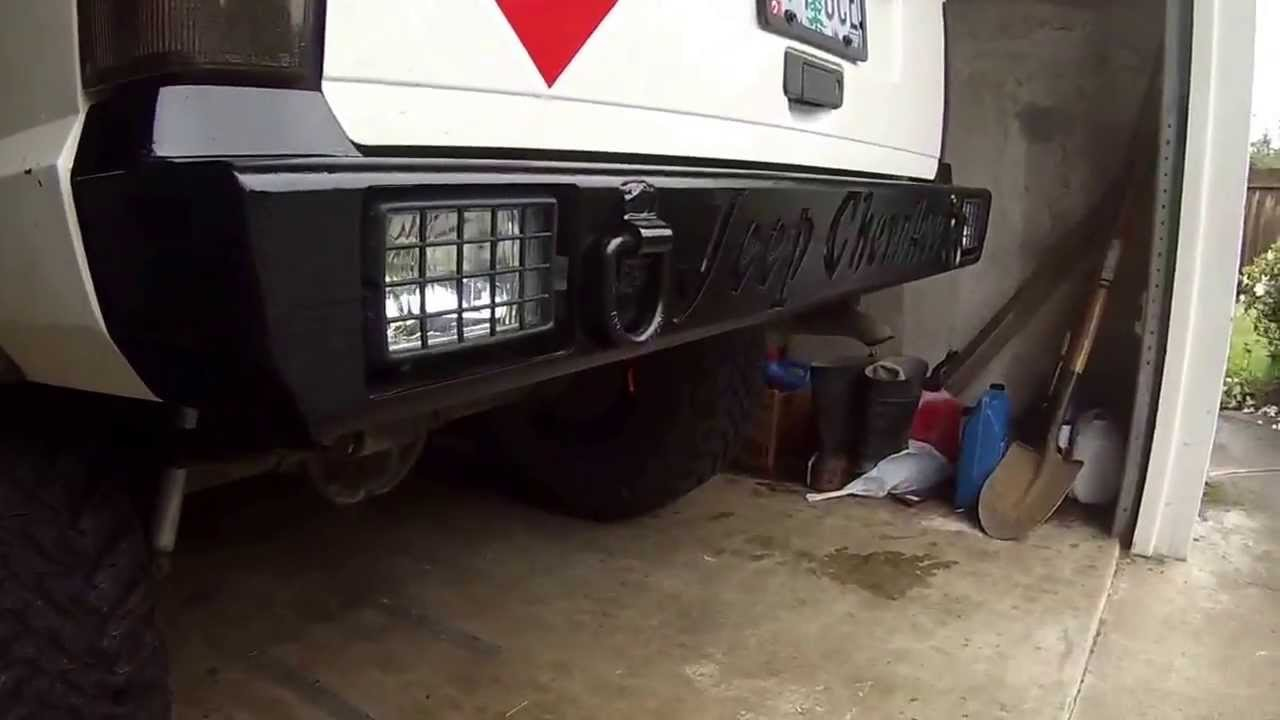 Jeep Cherokee Custom Rear Bumper Youtube