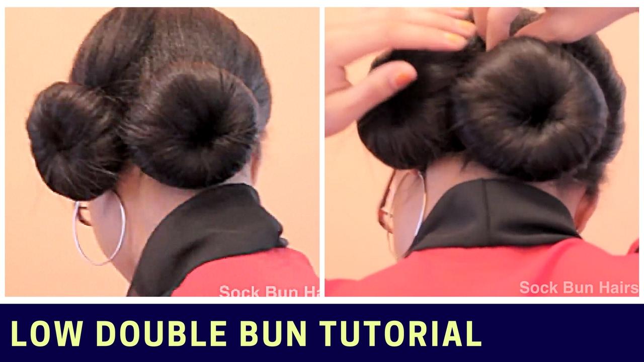 Learn How To Make Easy Sock Bun Or Sock Doughnut Fast Youtube
