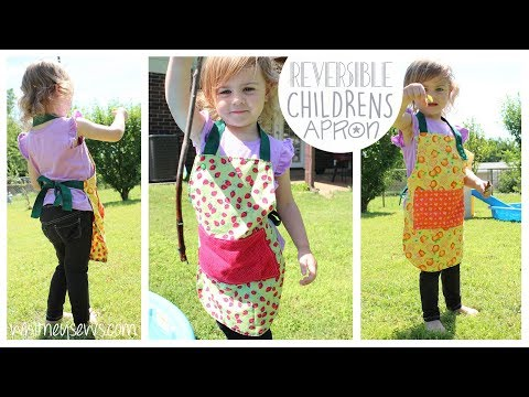 Reversible Kids Apron | How to | Whitney Sews