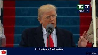 Donald Trump primo discorso da 45° Presidente degli Stati Uniti d