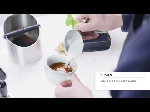 Video: Latte Art Herz Anleitung | Aromatico