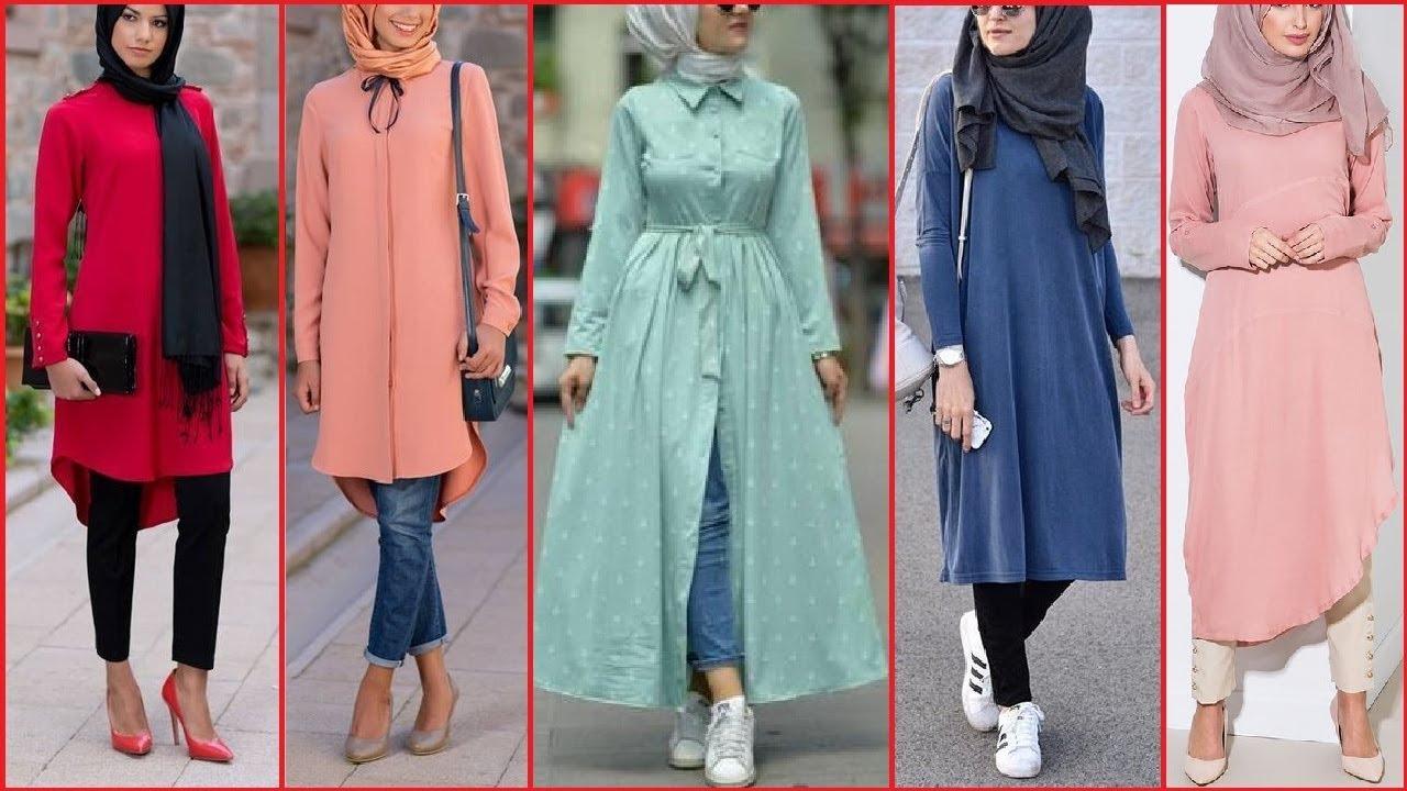 Kashmiri Kurti Designs Latest Dress Style Long Shirt Hijabi Girls Fashion Long Shirt Designs