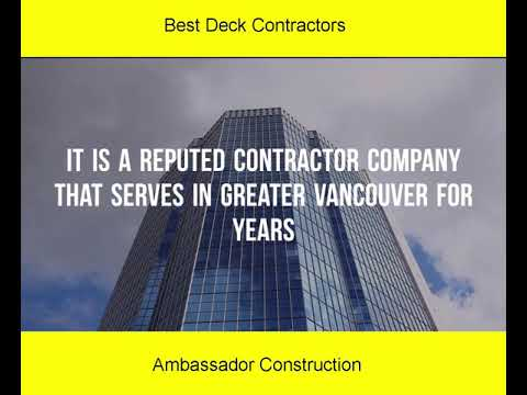 Finding the Best Deck Contractors near You in Vancouver