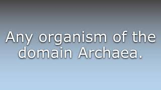 What does Archaean mean?
