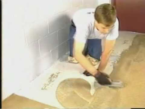 How to apply waterproof epoxy floor over concrete.