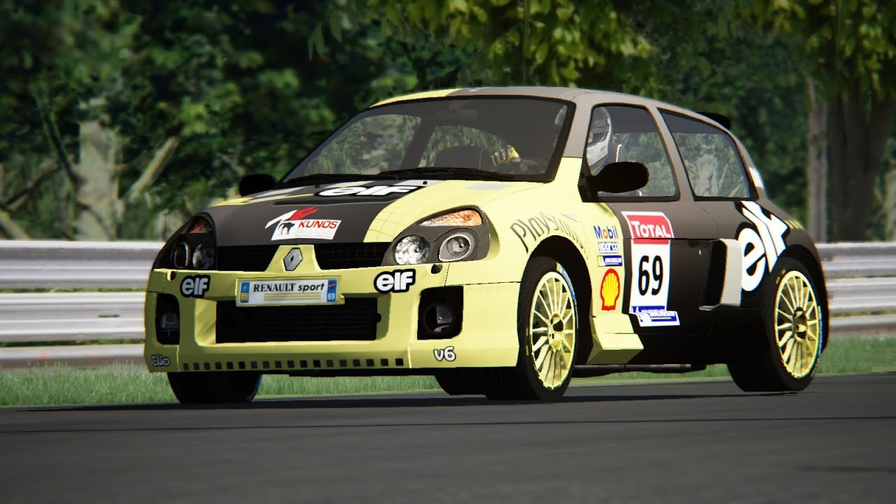 assetto corsa renault clio v6 255hp phase 2 nordschleife youtube. Black Bedroom Furniture Sets. Home Design Ideas