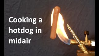 How to cook a levitating hot dog.... the Coanda effect // Homemade Science with Bruce Yeany