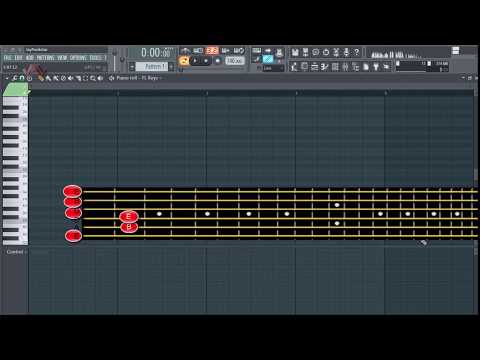 FL Studio And Basic Music Theory - How To Convert Guitar Chord And Melody To Pianoroll