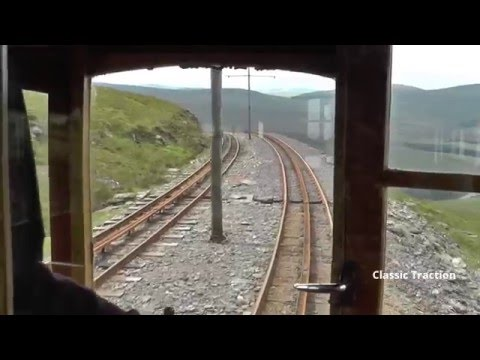 DRIVER'S EYE VIEW OF THE SNAEFELL MOUNTAIN RAILWAY ON THE ISLE OF MAN