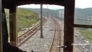 drivers eye view of the snaefell mountain railway on the isle of man