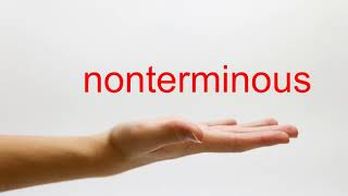 How to Pronounce nonterminous - American English