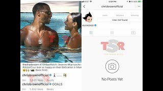 Chris Brown Deletes His Instagram Account After Commenting On His Ex Karrueche Tran's Picture