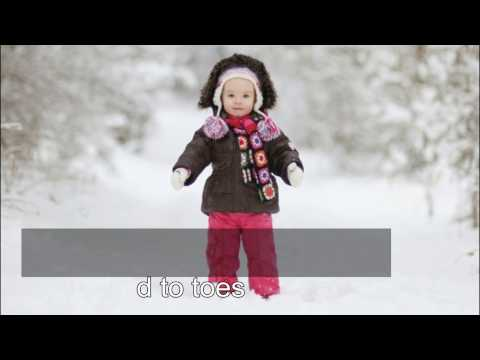 Winter Song - For Kids, vocabulary with flashcards