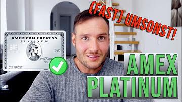 ⚠️Maximale Vorteile der Amex Platinum rausholen - Karte (fast) umsonst - deutsch