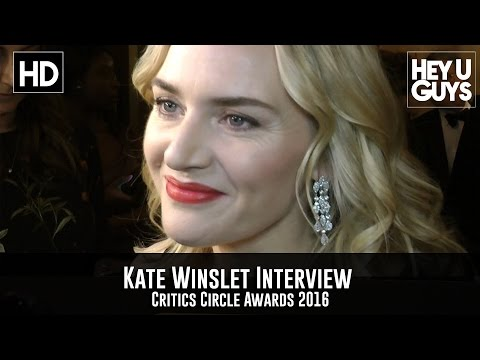 Kate Winslet Interview (Oscar & Golden Globe Nominations) - Critics Circle Awards 2016