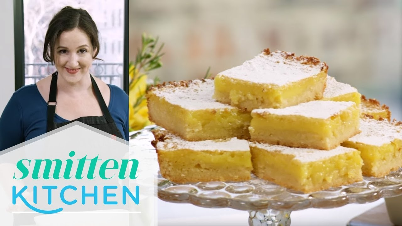 Smitten Kitchen whole lemon bars from smitten kitchen | food network - youtube