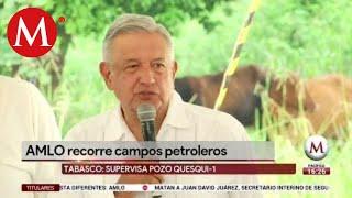 AMLO celebra hallazgo de yacimiento en Tabasco